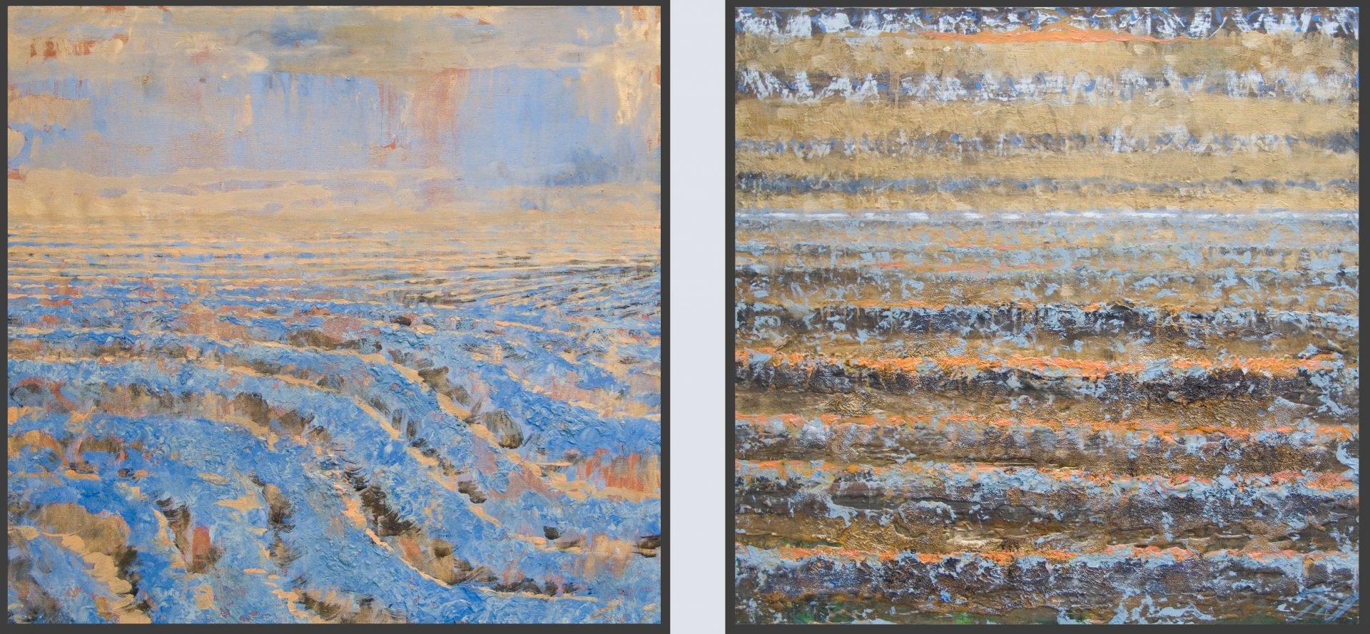 Earth and Sky (diptych)