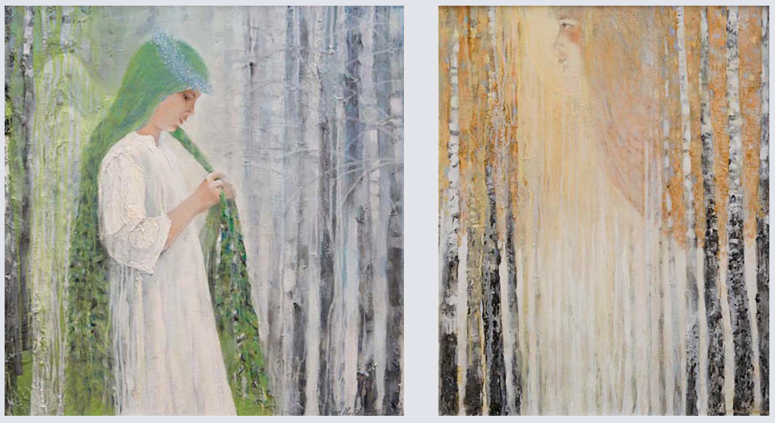 Two Ages (Spring Teen... and Autumn/Bride Pregnant in Future Spring) Diptych
