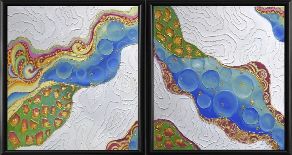 On the wings of fantasy. Diptych