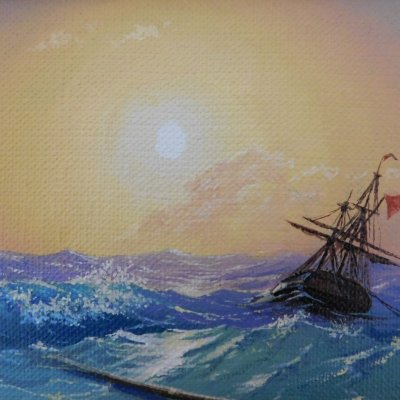 Miniature with painting Aivazovsky 2
