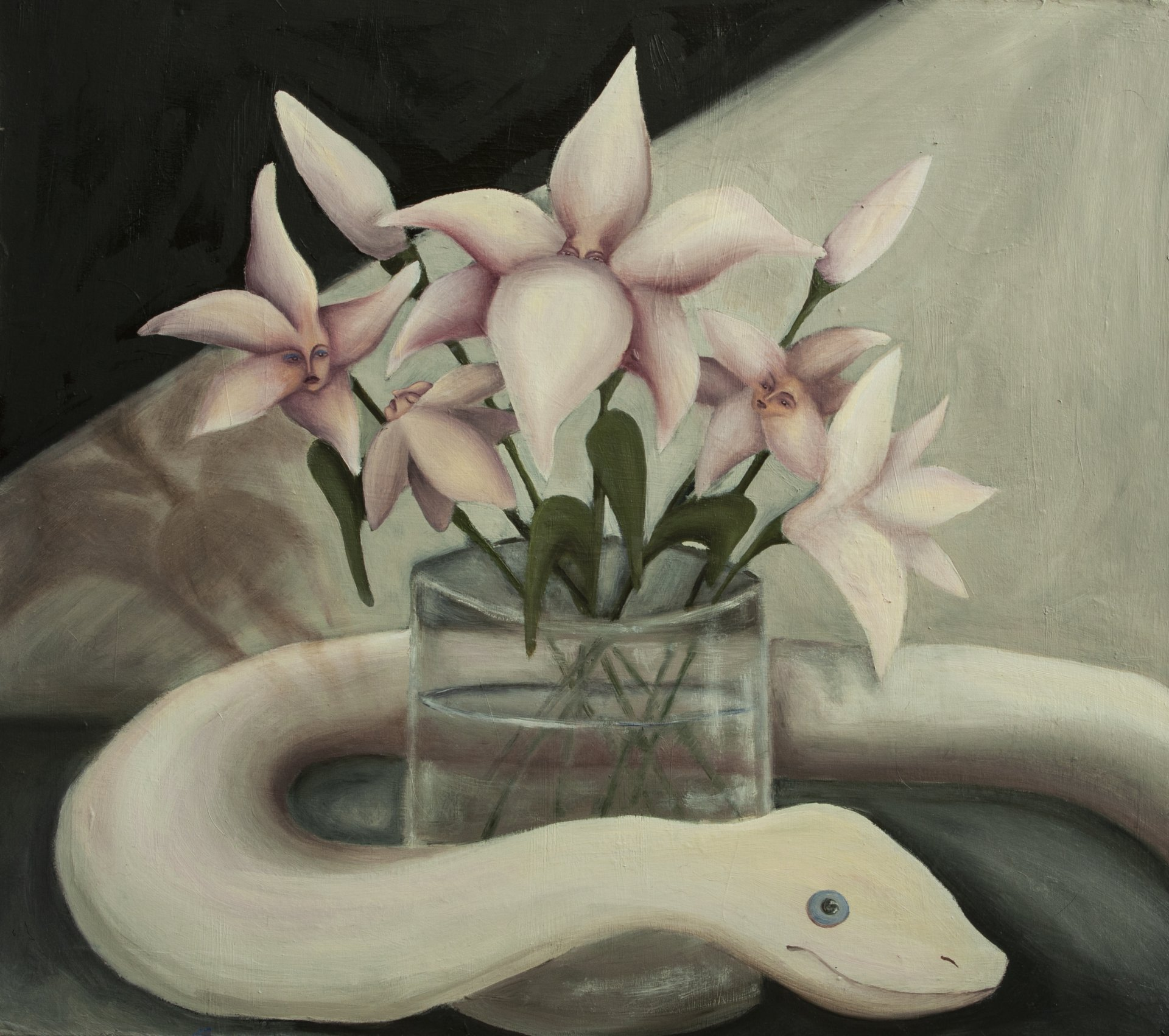 White Snake and Lilies