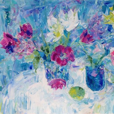 Still Life in Blue Tones