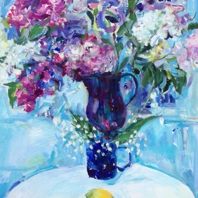 Still life with lilacs and lilacs