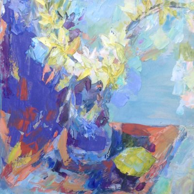Spring still life with daffodils