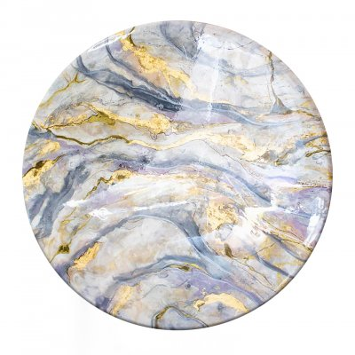 Epoxy Resin Table with Gold